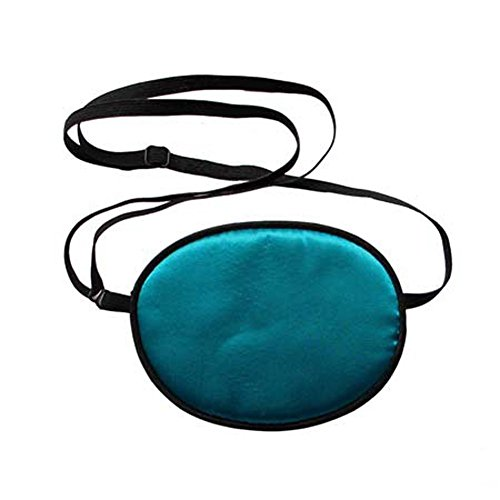 EUBUY Pirate Eye Patch,No Leakage Smooth Soft and Comfortable Elastic Natural Silk Eye Patch for Kids Infants Lazy Eye Amblyopia Strabismus Dark Blue