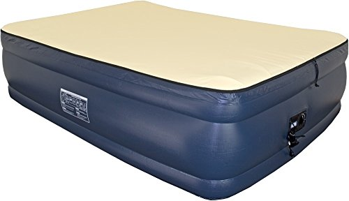 Top Queen Foundation - Airtek Queen Foundation Series Premium Velvety Flocked top Air Mattress Airbed with Patented high-end Giga Valve for Ultra Fast deflation, Extra Thick 2ABQ04011