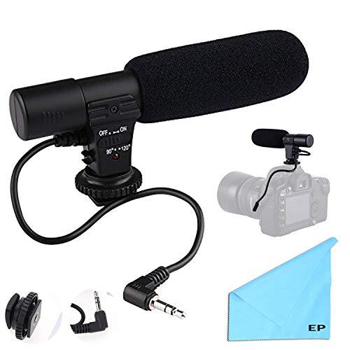 (Digital Video Camera Studio/Stereo Shotgun Recording Microphone for Canon Powershot Cameras Including G3 x, G5X, G7 X, G7 X Mark II, G9 X, G9 X Mark II& More.)