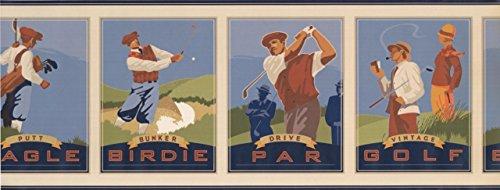 Vintage Golf Pictures Eagle Birdie Par GF7112BD Wallpaper ()