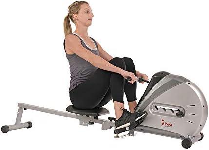 Sunny Health & sf-rw5606Cuerda elástica máquina de Remo de Fitness 9