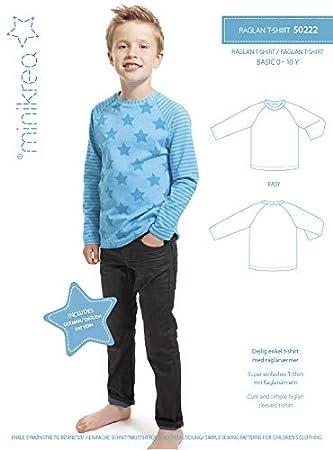 MAGAM-Stoffe \'\'Raglan T-Shirt\'\' Schnittmuster für Kinder | Gr. 50 ...