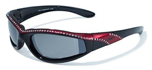 Global Vision Eyewear Black and Red Frame Marilyn 11 Ladies Riding Glasses ()
