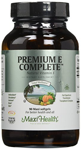 Vitamin E Complete - D-Alpha - Immune System Support - Anti-Aging - Antioxidant - Skin Benefits - 200IU Per Serving - All Natural and Kosher D-alpha Tocopherol Tocotrienols Vitamin E