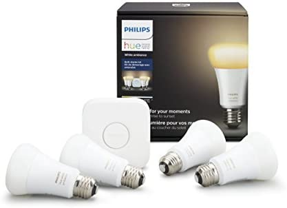 Phillips Hue Ambiance A19 Starter Kit 4 Pack 471994
