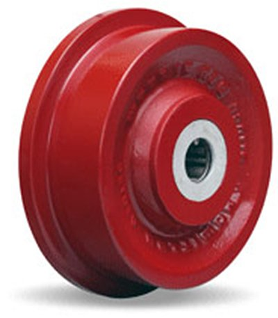Single Flanged Track Wheel 6-1/8'' Diameter x 1-11/16'' Face x 2-3/4'' Hub Length with 1'' Roller Bearing