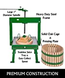 Full Orchard 20 Liter (5.3 Gallon) Cross Beam Cider Press & Fruit press - For Apple Cider, Wine and Wine, Grape, Juice Making, Choose Size by Montimax