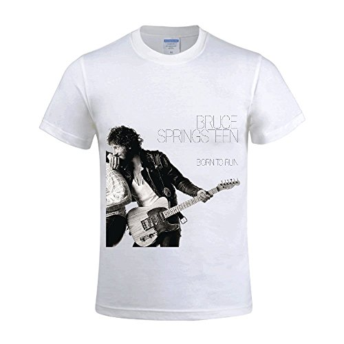 T Customized To Born white Hpyeed Men Springsteen Shirts Run Neck Round Bruce 38957 qSnYwZ