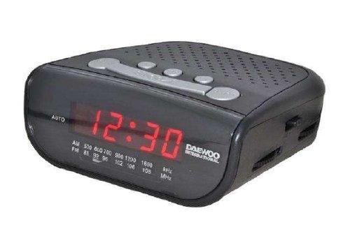 Daewoo DCR-26 - Radiodespertador, color negro