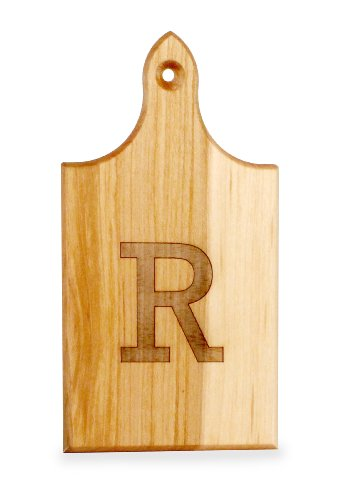 J.K. Adams Q-Tee Cut-Up Sugar Maple Wood Cutting Board, 7-1/2-inches by 4-inches, Alphabet Series, R ()