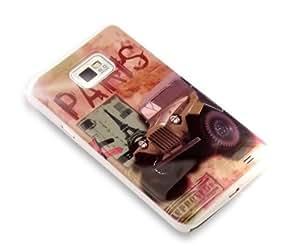 """""""Vintage París 3"""", Cubierta duro para Samsung Galaxy S2 i9100. Estuche / Carcasa / Funda, Cubierta de plástico duro para Samsung Galaxy S2 i9100."""