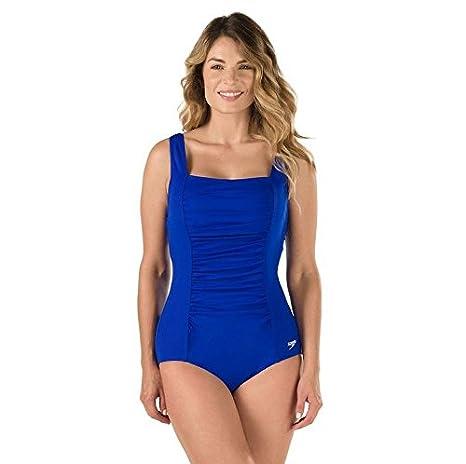 Speedo Women's Endurance+ Shirred Tank One Piece Swimsuit 7234015