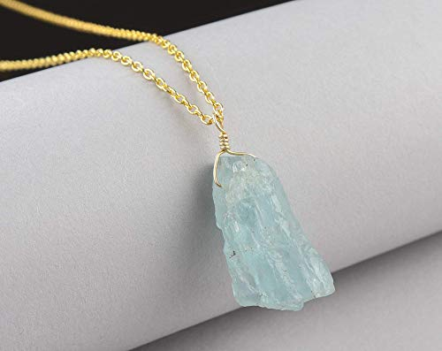 Natural  opalite  Crystal Gemstone on 18 inch sterling silver chain