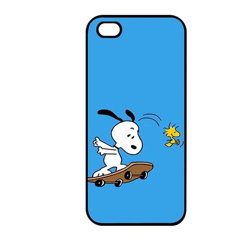 Coque,Doolin Phone Protection Case Covers Lovely Coque iphone SE & Coque iphone 5 & Coque iphone 5S Casing Cover(Snoopy Snow Cone Machine)