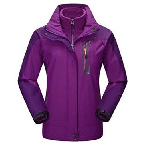 Sport Outdoor Da Due Impermeabile Giacche Alpinismo Purple Traspirante Pezzi Donna In Antivento Caldo n1EqpOxtO