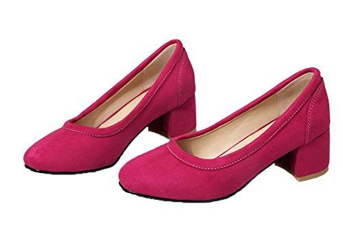 Dépolissement Femme Tire Aalardom Unie Couleur Cramoisi Chaussures Légeres C8qaw5xBa