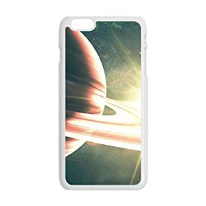 Universe Pattern White Phone Case for iPhone plus 6 Case