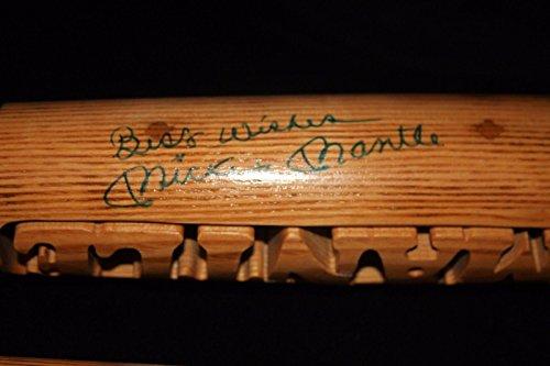 Carved Mantle - Mickey Mantle Autographed Bat - Inscribed Broken Batsmith Carved Cert - JSA Certified - Autographed MLB Bats