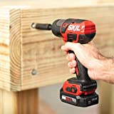 SKIL PWRCore 12 Brushless 12V 1/4 Inch Hex Cordless Impact Driver, Includes Two 2.0Ah Lithium Batteries and PWRJump Charger - ID574402
