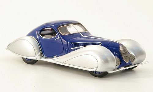 talbot-lago-t150c-ss-blue-silver-1937-model-car-ready-made-spark-143