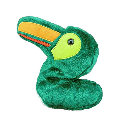 FeliciaJuan-sp Protective Golf Iron Headcovers Individual Golf Club Protector Golf Putter Headcover Cute Animals Standard Size Green Small Bird Golf Club Covers for No.3 No.5 Wood for Iron Heads