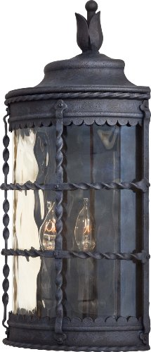 Minka Lavery Outdoor Wall Light 8887-A39 Mallorca Exterior Pocket Sconce Lantern, 120 Watts, Iron ()