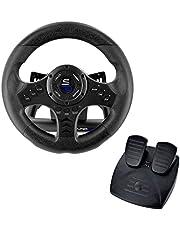 Superdrive SV450 Racestuurwiel met pedalen, Shift & Vibration - Xbox X/Series, Switch, PS4, Xbox One, PC (programmeerbaar voor alle games)