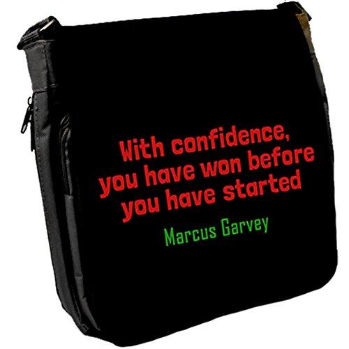 With confidence, you - Marcus Garvey Unisex Umhängetasche