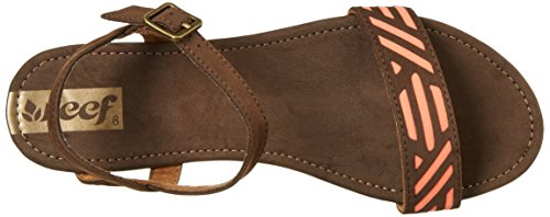 Reef Day Catch, Sandalias con Correa de Tobillo para Mujer Marrón (Brown / Coral)