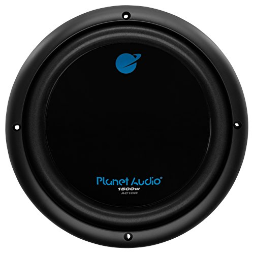 Planet Audio AC10D 10 Inch Car Subwoofer - 1500 Watts Maximum Power, Dual 4 Ohm Voice Coil, Easy Mounting, Sold Individually