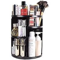 sanipoe 360 Rotating Makeup Organizer, , DIY Adjustable Makeup Carousel Spinning Holder Storage Rack
