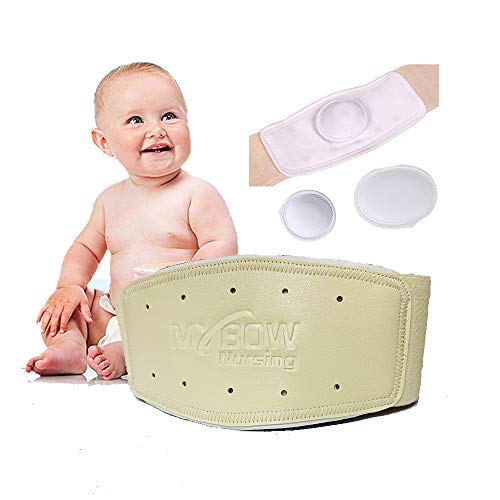 Umbilical Hernia Belt Baby Belly Band Infant Abdominal Binder for Hernia Support Truss Kids Navel Belly Button Band Newborn Baby Supplies Adjustable Wrap - Medium