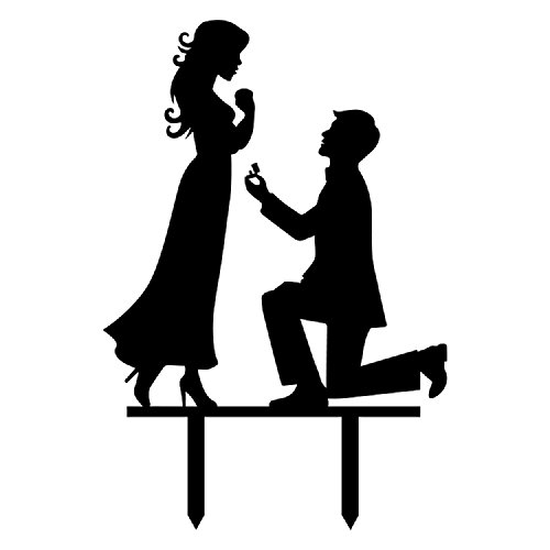 Propose Wedding Cake Topper Funny Love Couple Wedding Decoration Cake Topper Wedding Engagement Bridal Shower Wedding