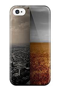 Tpu Case Cover For Iphone 4/4s Strong Protect Case - Dual Monitors Zombie Design