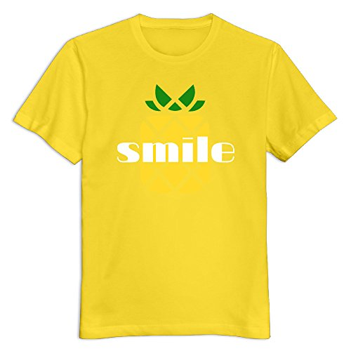- Men's 100% Cotton Pineapple T-Shirt Yellow US Size M