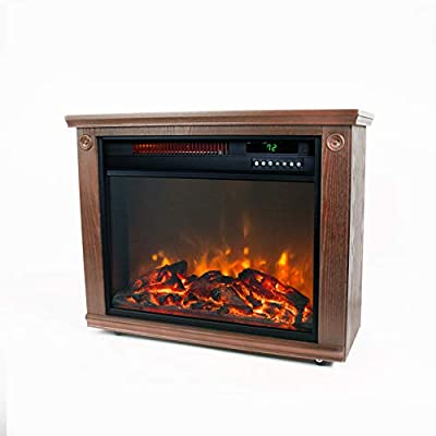 Lifesmart Remote Faux Stone Electric Fireplace