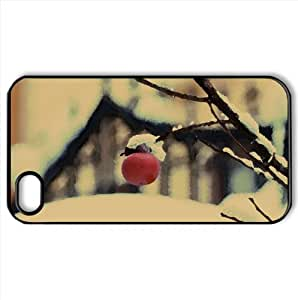 First Snow Watercolor style Cover iPhone 4 and 4S Case (Winter Watercolor style Cover iPhone 4 and 4S Case)