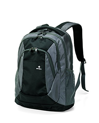 SWIZA Aulus Student Backpack - Grey & Black (Padded Case Wheeled Hardside)