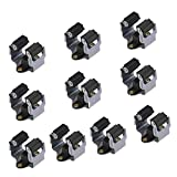 HO2NLE Wall Mounted Mop Broom Holder Brush Hanger Kitchen Garden Tool Storage Hook Rack with Screws for Indoor Outdoor Home Shelving Closet Sweeper 10pcs Black Max Load 3kg
