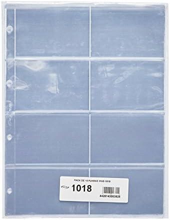Pardo 101800 - Pack de 10 fundas para colección variada, 8 alojamientos: Amazon.es: Oficina y papelería