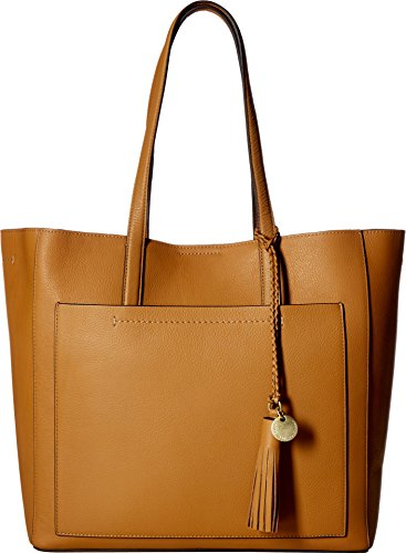 Camel Leather Tote Bag - 4