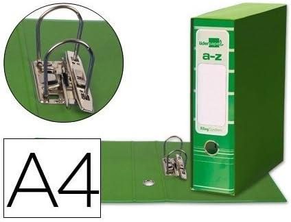 Caja Archivador De Palanca Verde Carton Din A4: Amazon.es: Oficina ...
