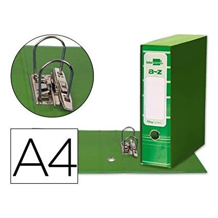 Caja Archivador De Palanca Verde Carton Din A4