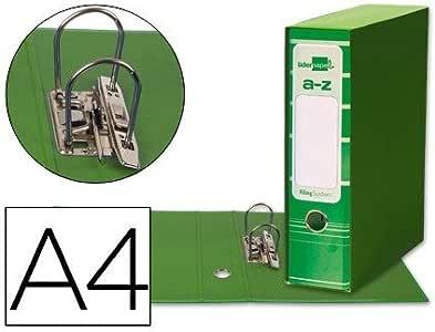 Caja Archivador De Palanca Verde Carton Din A4: Amazon.es: Oficina y papelería