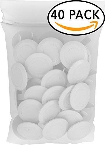 (40 Pack Outlet Plugs Covers [PROTECT YOUR CHILD] Child Proof - Best Safety Electrical Power Socket Plug Wall Cover Protector - Plastic Baby Proofing Caps [PERFECT FIT] White (40)