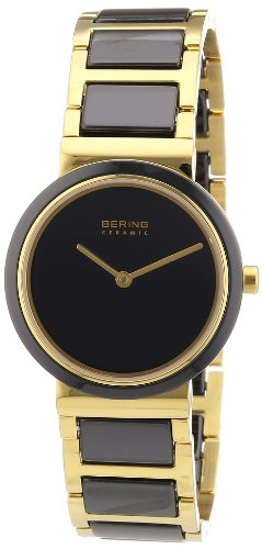 BERING Time 10729-741 Women's Ceramic Collection Watch with Ceramic Link Band and scratch resistant sapphire crystal. Designed in Denmark.