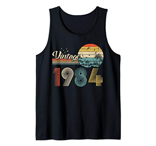 Vintage 35th birthday gift shirt for men women Classic 1984 Tank Top