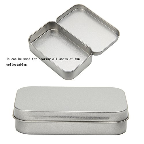 Tangc Small Metal Tin Silver Flip Storage Box Case Organizer For Money Coin Candy Key by Tangc (Image #6)