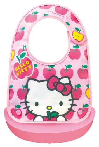 Hello Kitty Baby Apron | Baby Food Tableware | BR-4 ( Japanese Import )