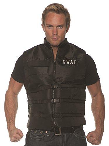 Underwraps Men's SWAT Costume Vest, Black, One Size]()